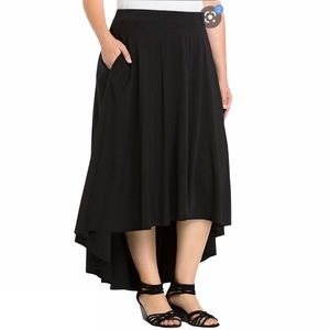 Torrid High Low Black Maxi Skirt Size 4X